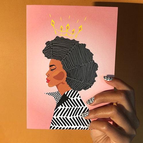 Confident Card - Queen
