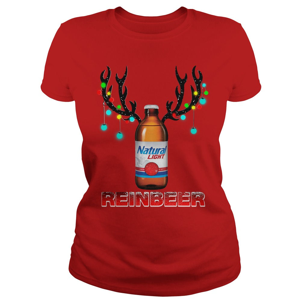 Natural Light Beer Reinbeer Christmas Sweater