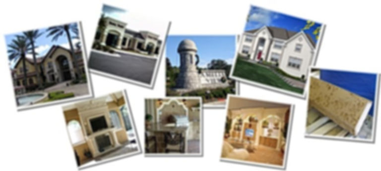 Hard coated architectural foam projects i Jacksonvlle Florida.