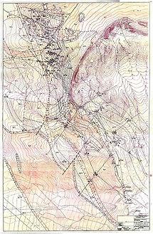 Геологічна карта  свінцево-цинкового родовища Шалкия