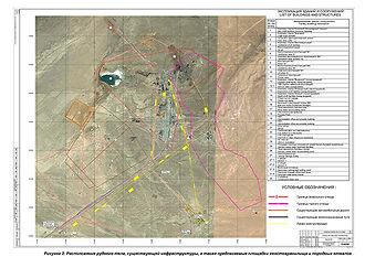 Карта  свінцево-цинкового родовища Шалкия