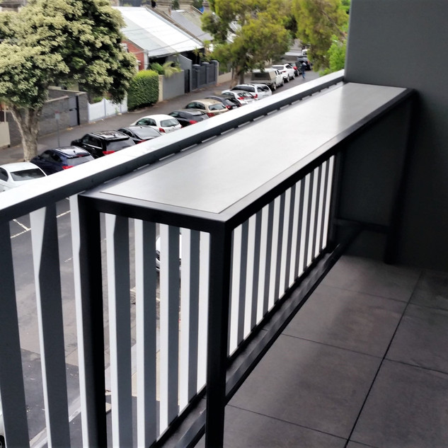 Custom Balcony Table with Stainless & Kobeboard