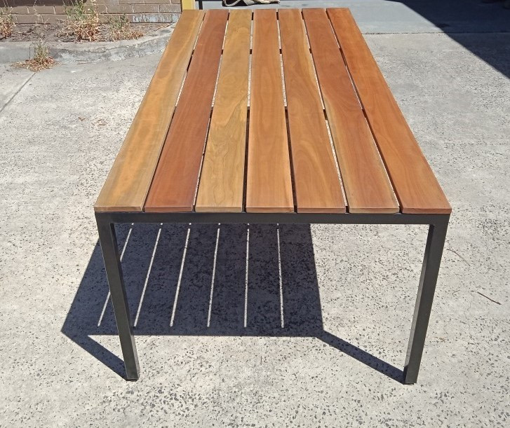 Black Powdercoat with 136mm Spotted Gum Slats. 2000 x 980mm - $770.00
