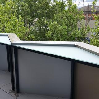 Custom Triangular Balcony Tables