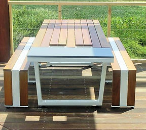 Live Life Outdoors, Outdoor Table Creations, Outdoor Tables Melbourne, Stainless & Spotted Gum, Custom Outdoor Tables, Outdoor Furniture Melbourne, Outdoor Tables, Custom Outdoor
