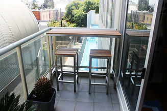 Outdoor Tables, Outdoor Furniture Melbourne, Outdoor Table Creations, Stainless Balcony Table, Live Life Outdoors, Outdoor Tables Melbourne,