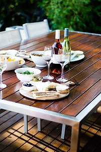 Outdoor Furniture Melbourne, Outdoor Table Creations, Live Life Outdoors, Stainless Steel Jarrah Outdoor Table, Outdoor Tables Melbourne, Outdoor Tables