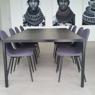 Custom Stainless & Stone Dining Table