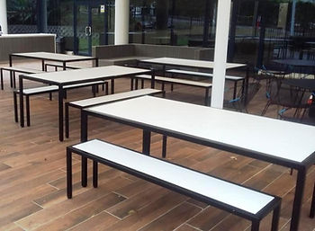 Outdoor Table Creations, Compact Laminate, Outdoor Tables Melbourne, Outdoor Restaurant Furniture, Hospitality Furniture, Outdoor Tables, Compact Laminate Tables