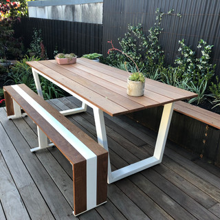 Stainless Steel & Spotted Gum