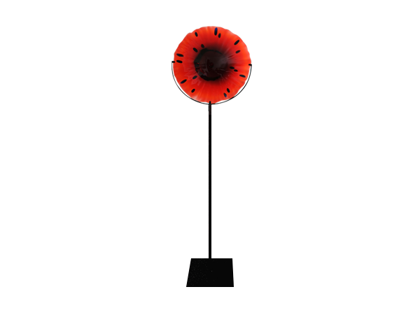 Red disc with stand