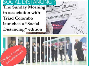 How a newspaper maintains Social Distancing?
