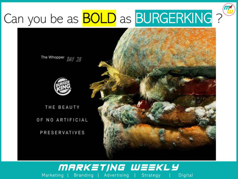 Can you be as bold as Burger King?