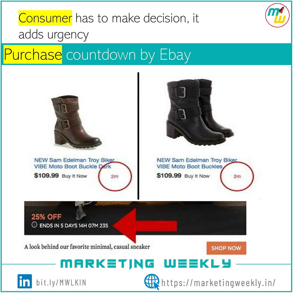 Purchase countdown by Ebay