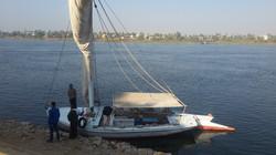 preparing our boat trip