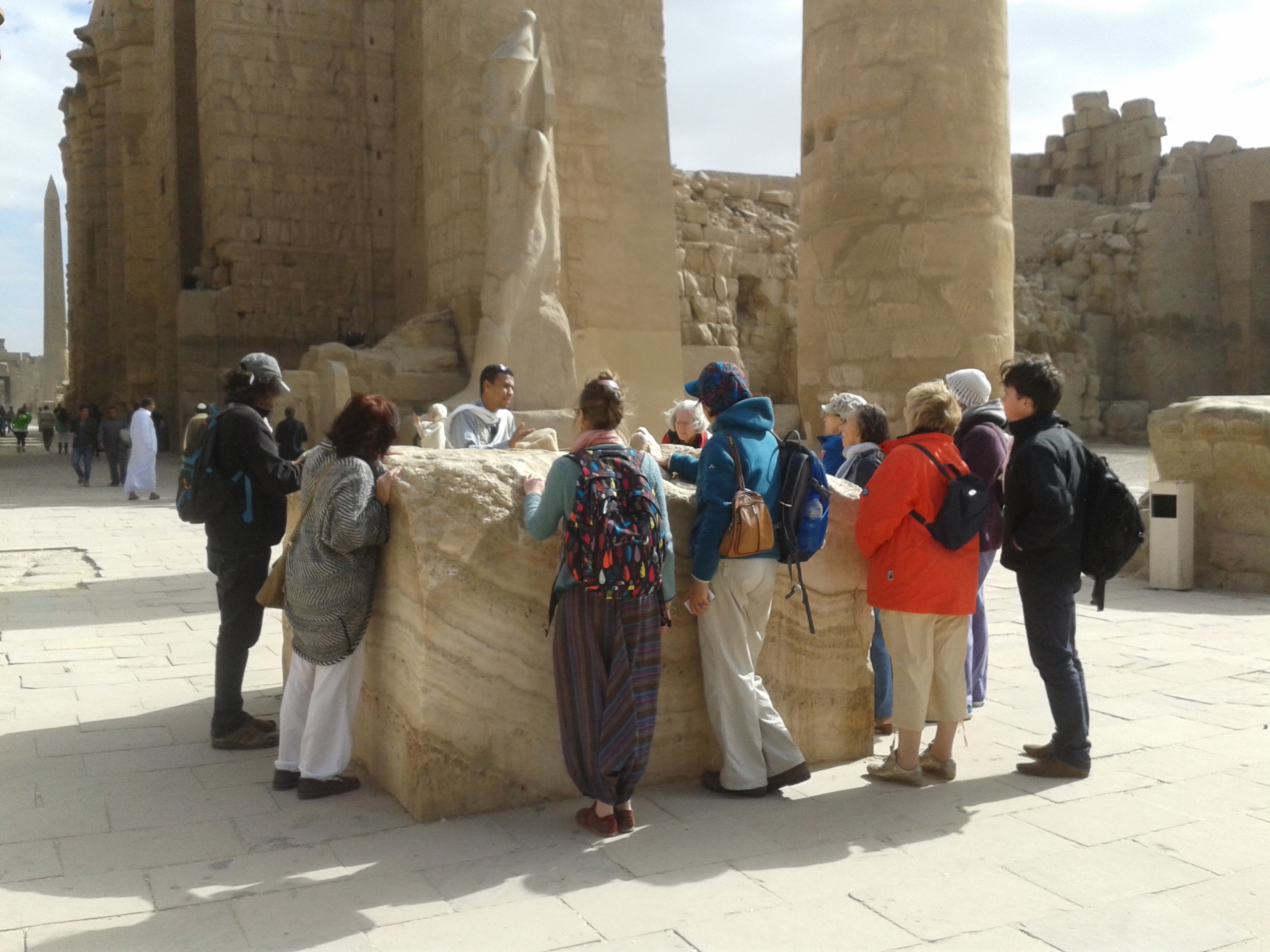Our group at Karnak temple