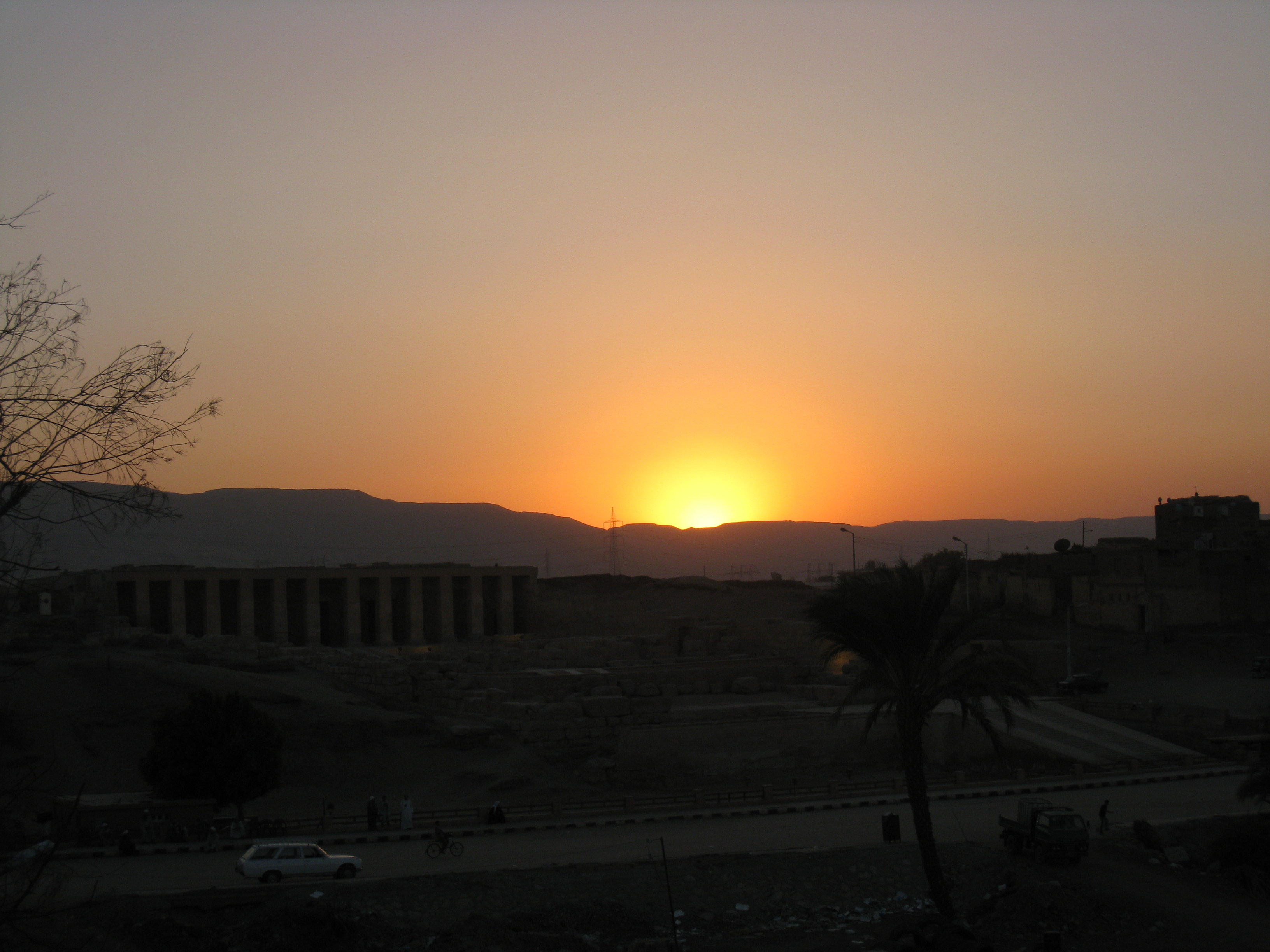 Sunset in Abydos