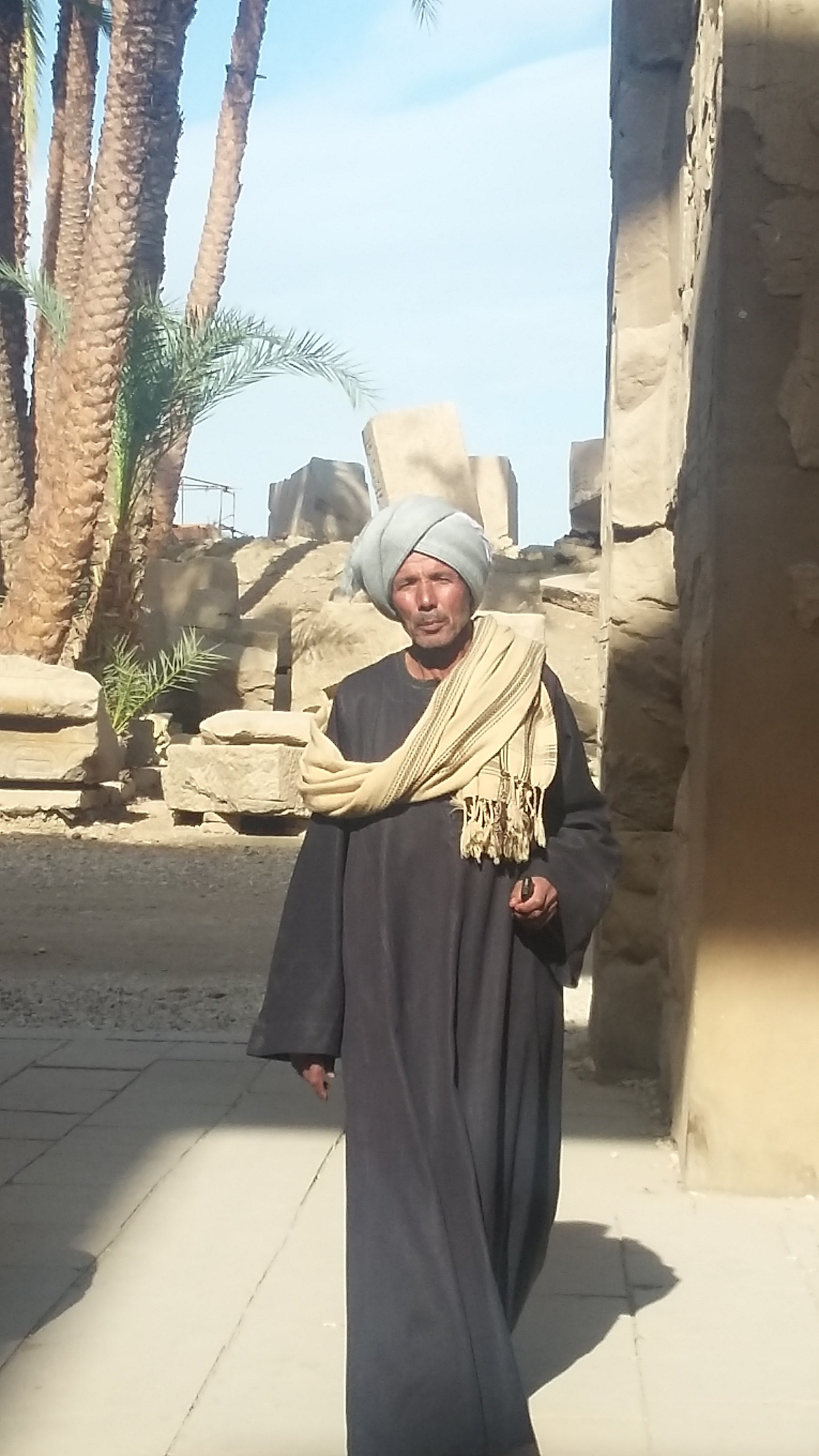 Guard at Karnak temple