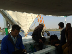 Boat trip on the Nile
