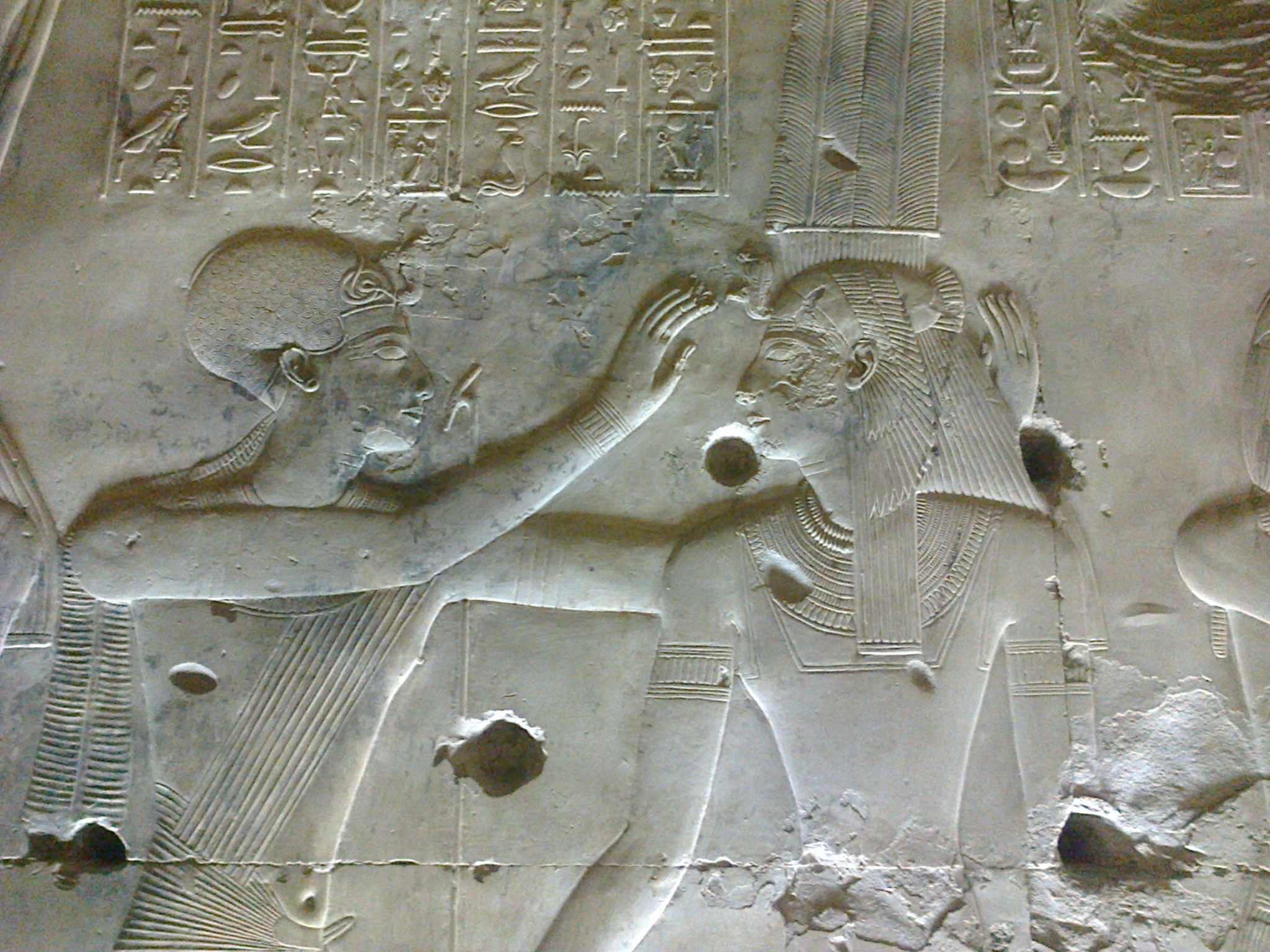 Bas relief Abydos temple