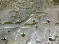 Bas relief Abydos temple
