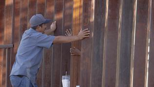 Love through a border wall