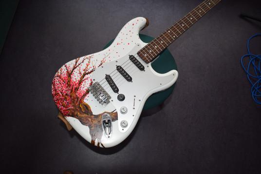 Cherry blossom guitar - front