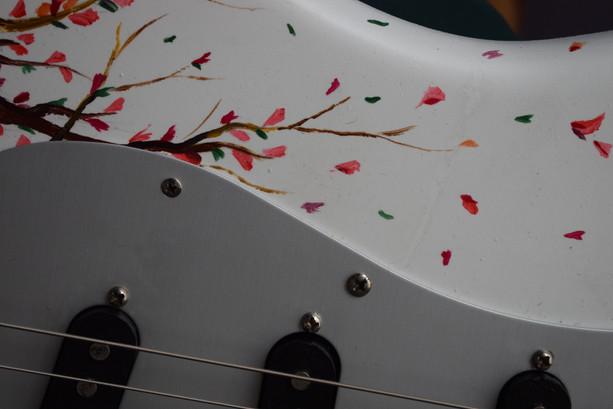 Cherry blossom guitar -detail