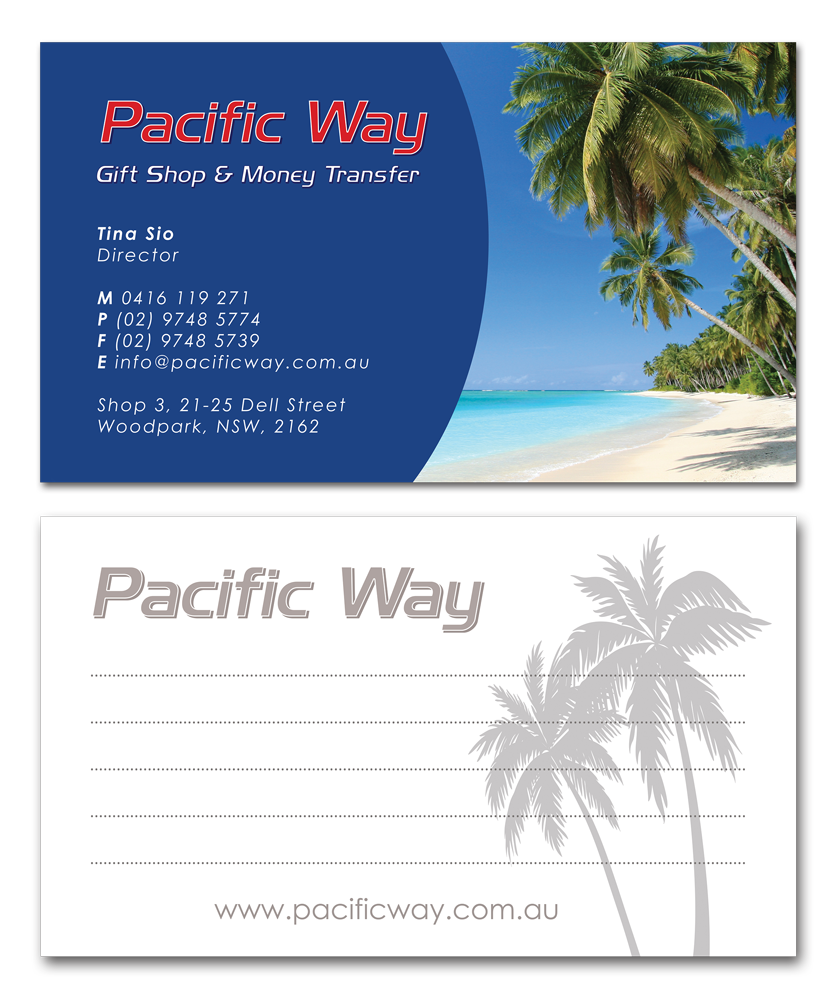 Pacific Way Business Card