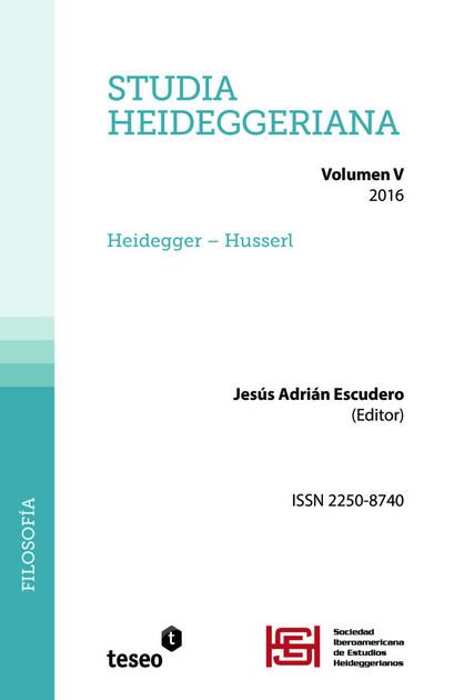 Studia Heideggeriana Vol. V Heidegger – Husserl.                           Jesús Adrián Escudero (Ed