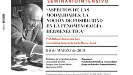 """Seminario Intensivo: """"Aspectos de las modalidades: la noción de posibilidad en la fenomenología"""