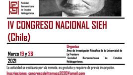 [Programación] - IV Congreso Nacional de la SIEH (Chile)