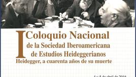 I Coloquio Nacional de la Sociedad Iberoamericana de Estudios Heideggerianos (México)