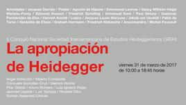 """II Coloquio Nacional de la SIEH: """"La Apropiación de Heidegger"""" (Puebla, México)"""