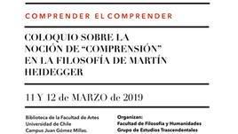 """Coloquio sobre la noción de """"comprensión"""" en la filosofía de Martin Heidegger (Chile)"""