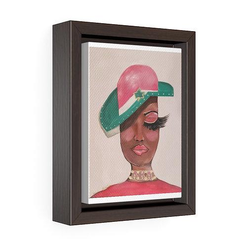 AKA Framed Premium Gallery Wrap Canvas