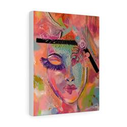 levelminded-art-pink-harmony-premium-gallery-wrap-canvas-print