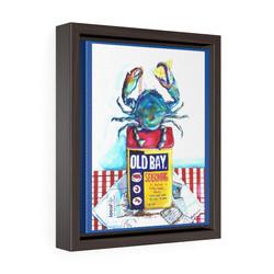 blue-crab-framed-premium-gallery-wrap-canvas