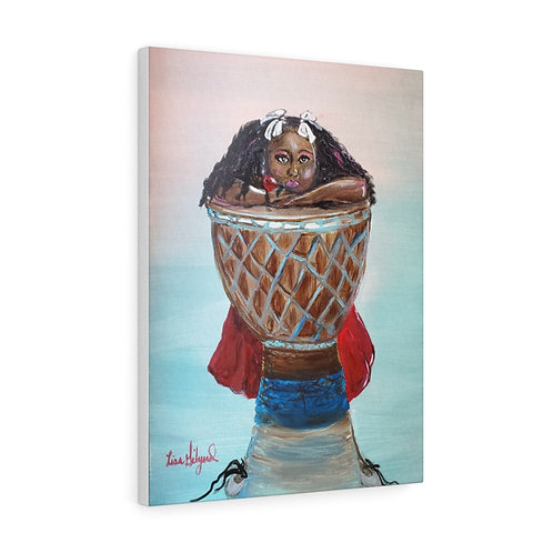 Jazzy Drummer Girl Canvas Gallery Wraps