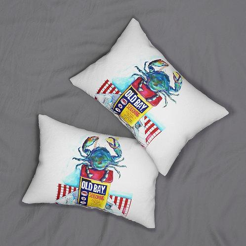 Crab Spun Polyester Lumbar Pillow