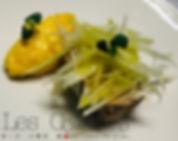 Foie gras maison/ chou rave/ orange curd