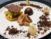Palet pignons de pin/ chocolats Valrhona/ poire