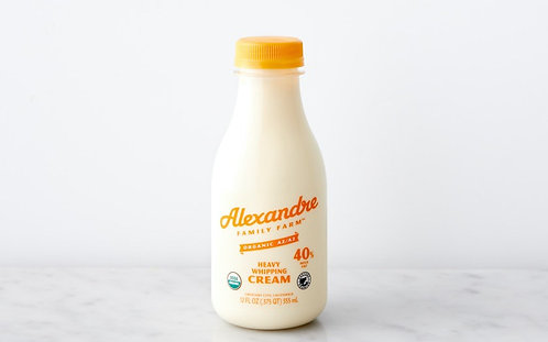 Heavy Whipping Cream (Alexandre Farms Organic)