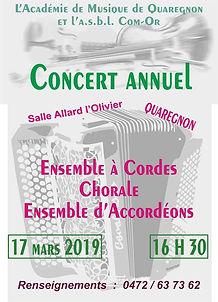 Concert annuel 2019