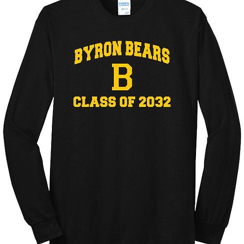 Byron Bears Class of Class of 2032 T-Shirt Long Sleeve