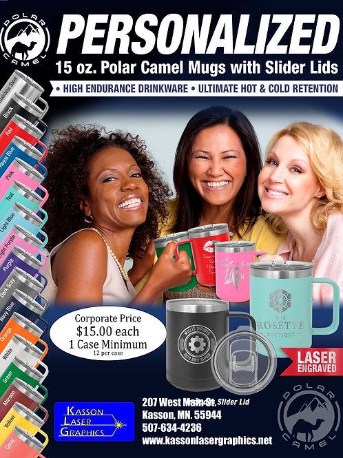 15oz Coffee Polar Camel Stainless Steel Mugs