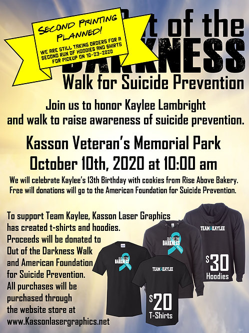 Out of the Darkness,  Walk for Suicide Prevention
