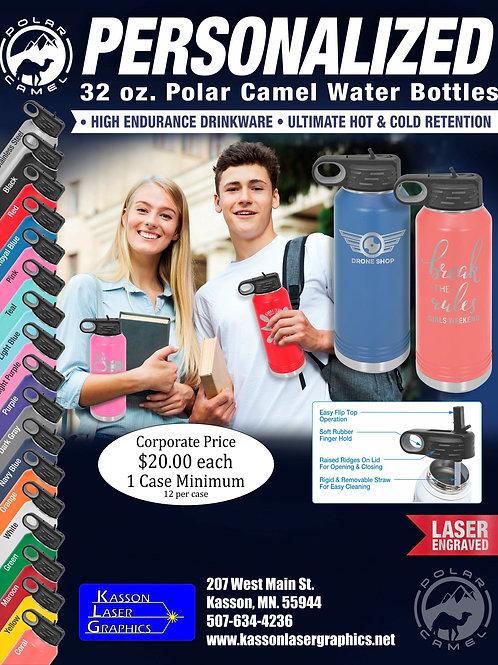 32oz Water Bottle Polar Camel Stainless Steel