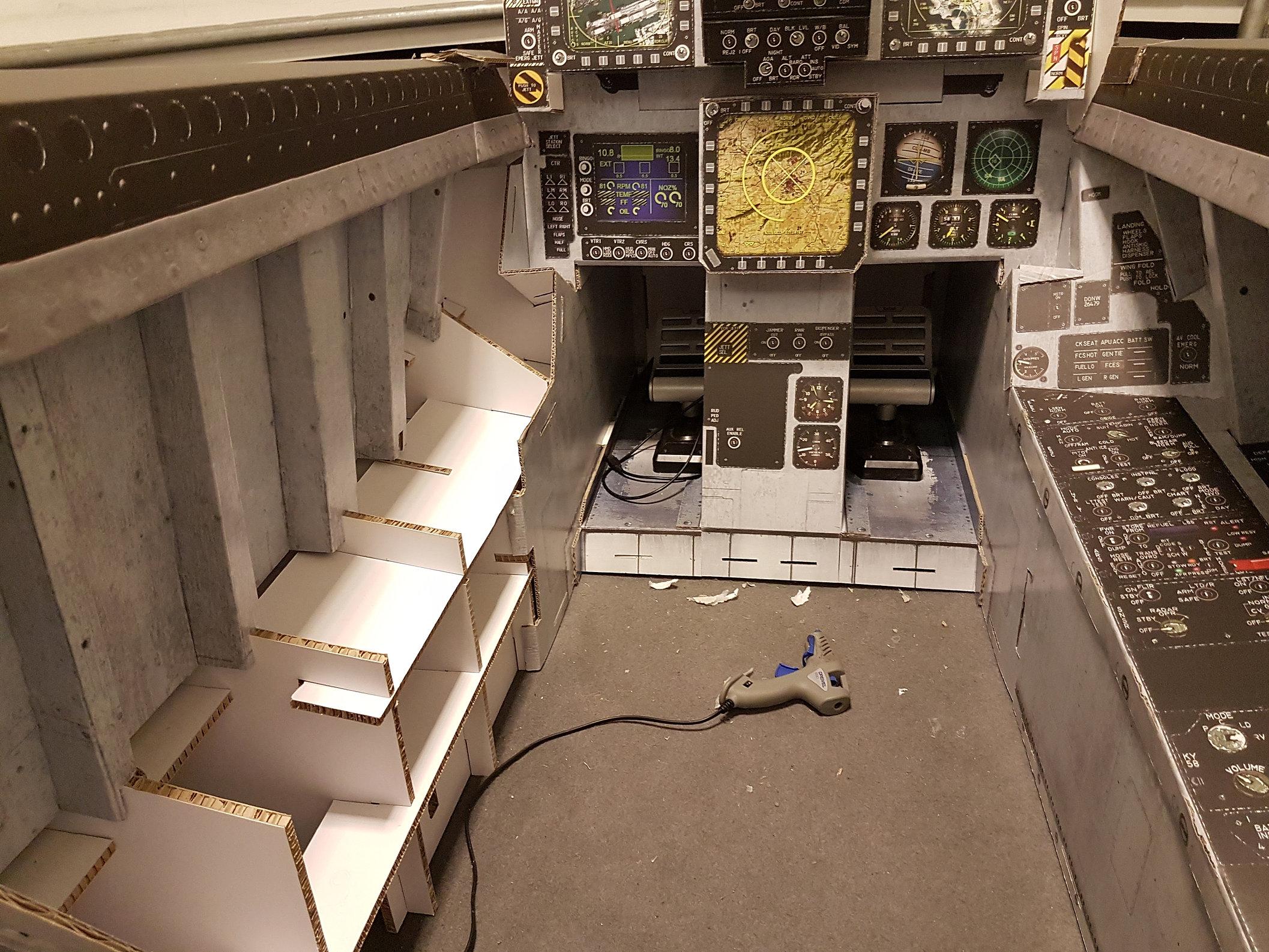 F-18 simulator cockpit|gallery|Dogfight Boss
