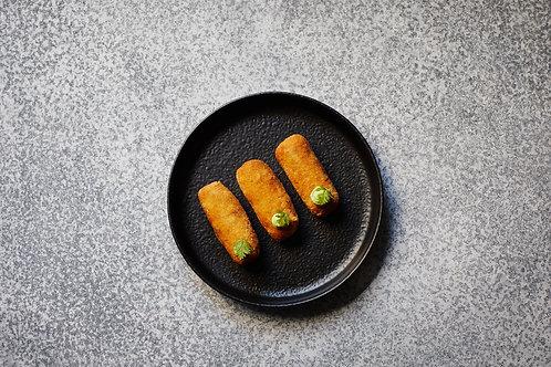 Prosciutto + Scamorza Crocchette, Rocket Mayonnaise (4 pieces)